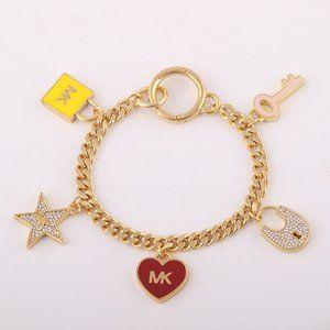 Michael Kors Enamel Glazed Love Pendant Bracelet